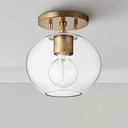 "Mitzi Margot 8 1/4"" Wide Aged Brass Ceiling Light"