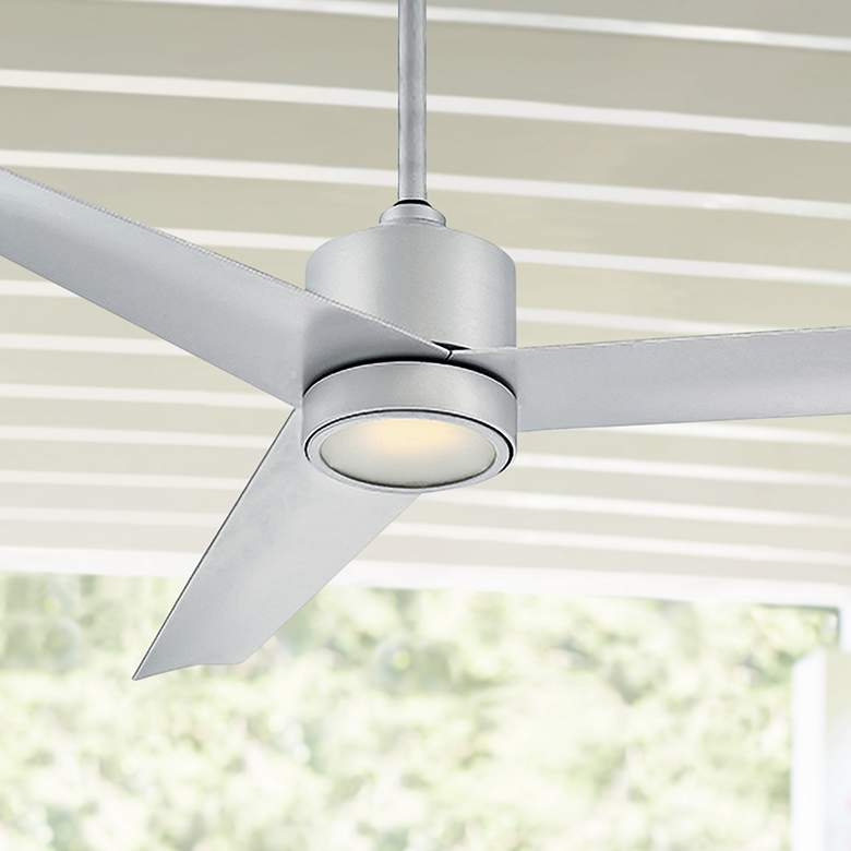 "54"" Lotus Titanium Silver LED Outdoor Ceiling Fan"