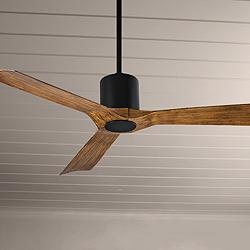 "54"" Modern Forms Aviator Matte Black Outdoor Ceiling Fan"