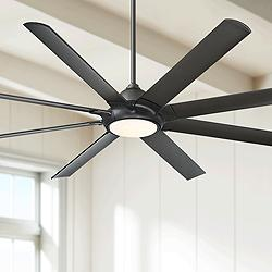 "80"" Modern Forms Hydra Bronze LED Wet Ceiling Fan"