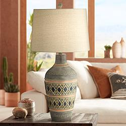 Desert Mesa Southwest Rustic Jar Table Lamp
