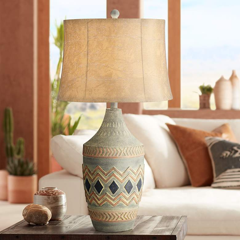 Desert Valley Southwest Rustic Jar Table Lamp