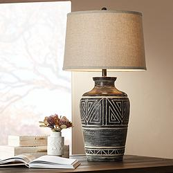 Miguel Earth Tone Southwest Rustic Jar Table Lamp