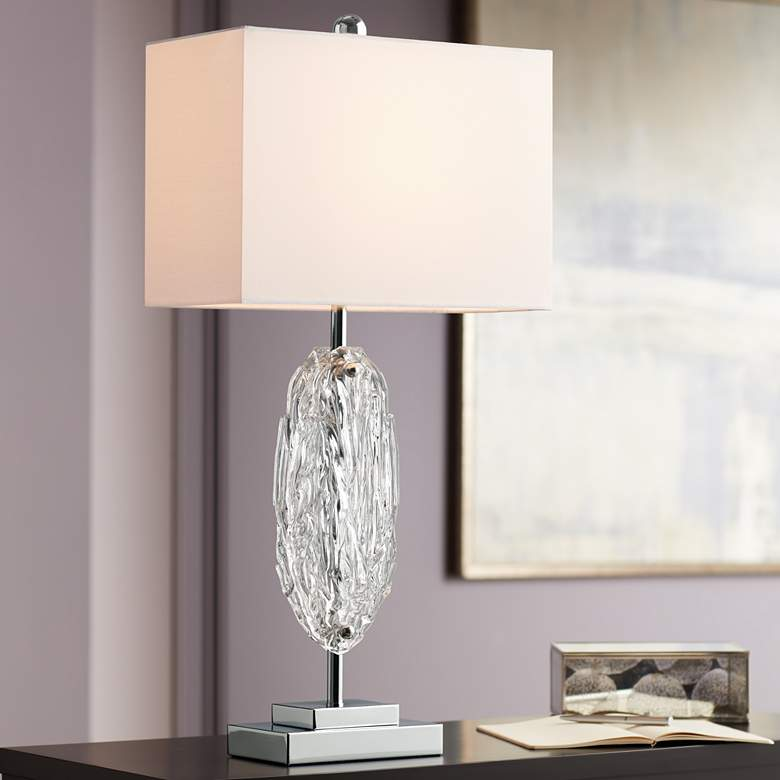 Possini Euro Gabriel Modern Glass Table Lamp