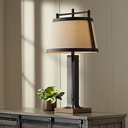Glenn Oil-Rubbed Bronze Farmhouse Table Lamp