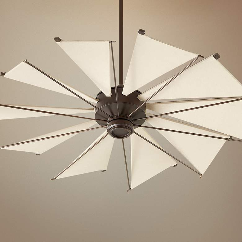 "52"" Quorum Mykonos Oiled Bronze Ceiling Fan"