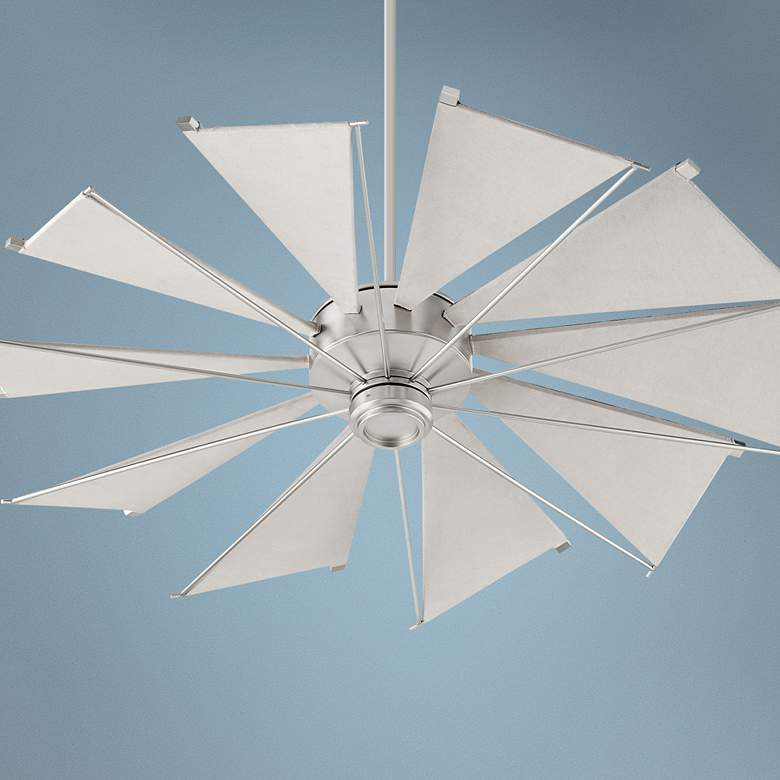 "52"" Quorum Mykonos Satin Nickel Ceiling Fan"