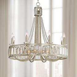 "St. Luciana 29"" Wide Silver 16-Light Crystal Chandelier"