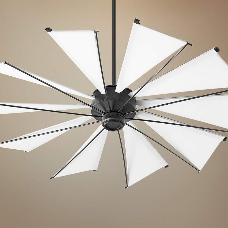 "60"" Quorum Mykonos Noir Ceiling Fan"