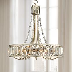 "St. Luciana 25"" Wide Silver 8-Light Crystal Chandelier"