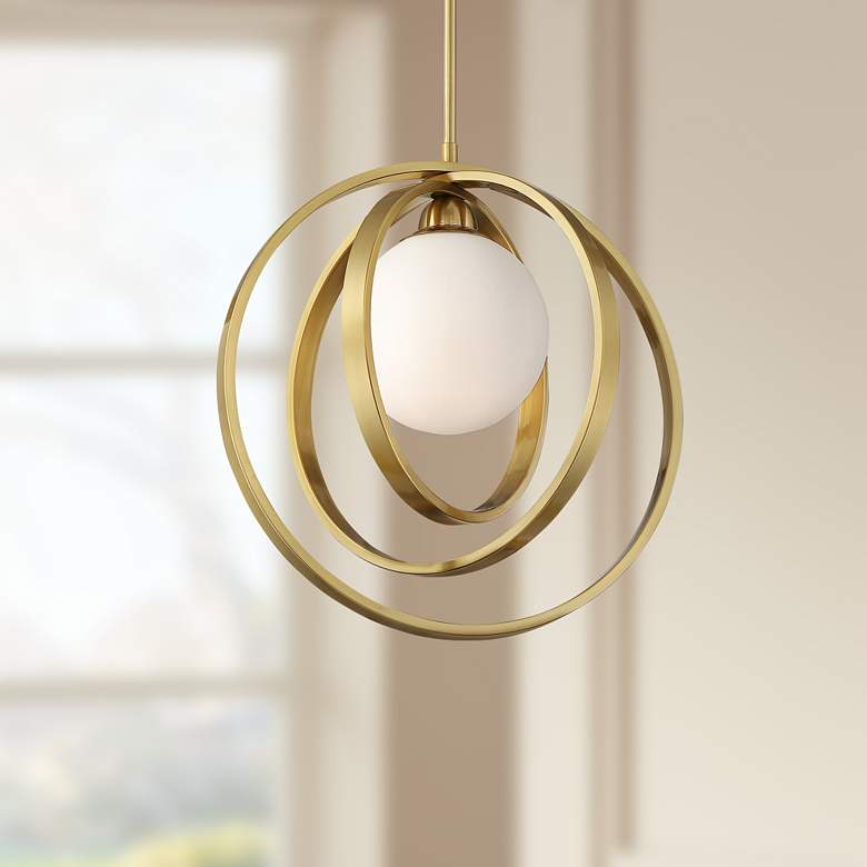 "Braxton 16 1/2"" Wide Brass Multi Circular LED"