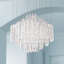 "Elianne 23 1/2"" Wide Chrome and Crystal LED Pendant Light"