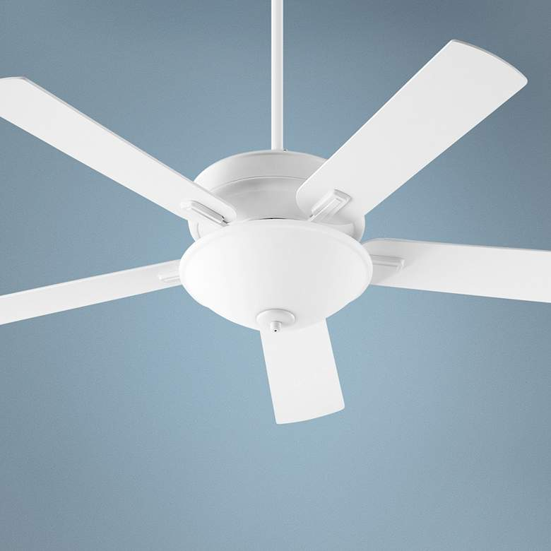 "52"" Quorum Premier Studio White LED Ceiling Fan"