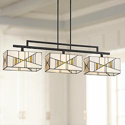 "Oswell 42 1/2"" Wide Art Glass Kitchen Island Light Pendant"