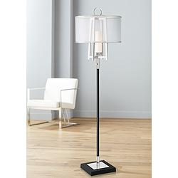 Possini Euro Monterey Floor Lamp with Organza Shade