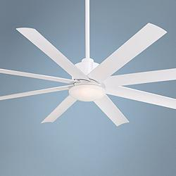 "65"" Minka Aire Slipstream White Outdoor LED Ceiling Fan"