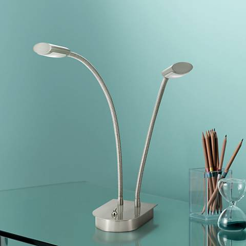 Eternity Double Gooseneck LED Desk Lamp