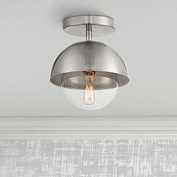 "Possini Euro Valier 7""W Polished Nickel Ceiling Light"