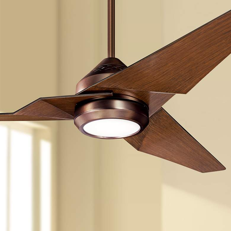 "60"" Kichler Jade Oil-Brushed Bronze LED Ceiling Fan"