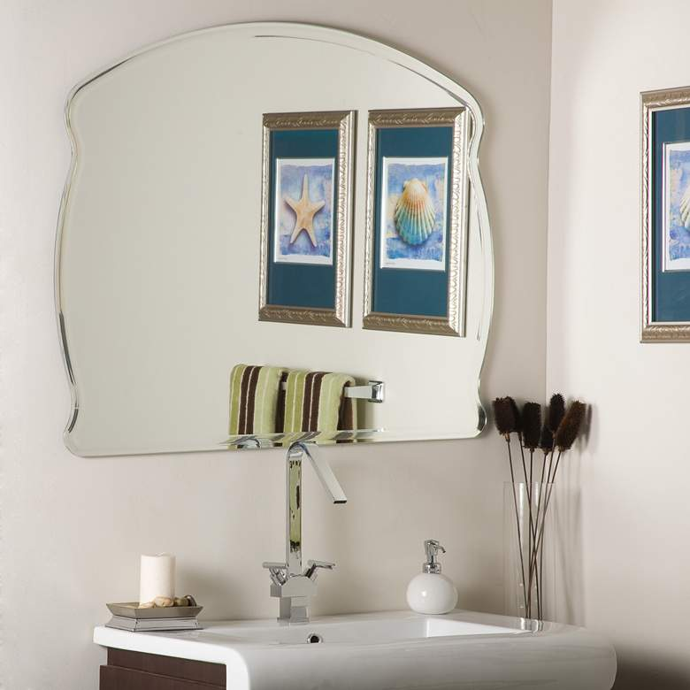 "Frameless 39 1/2"" x 31 1/2"" Oversized Wall Mirror"