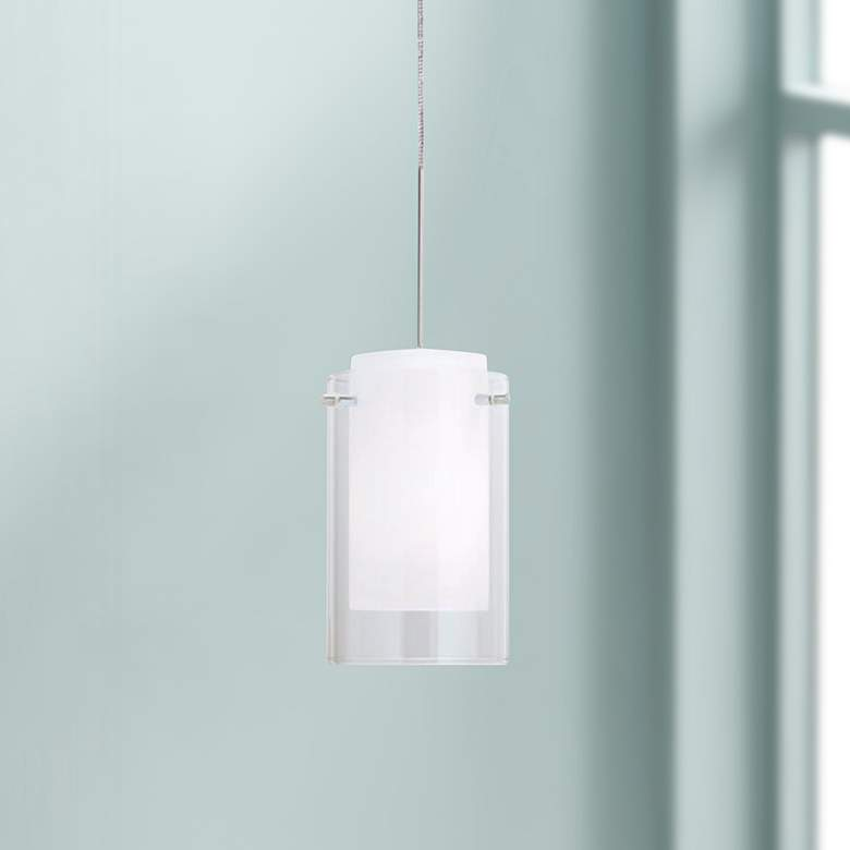 "Tech Lighting Echo 4"" Wide Clear Glass Freejack Mini Pendant"