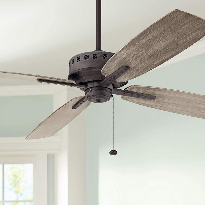 "65"" Kichler Eads Patio XL Weathered Zinc Outdoor Ceiling Fan"