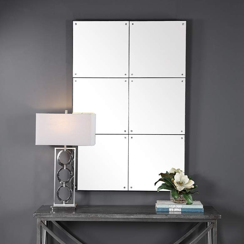 "Uttermost Eldred Black 37"" x 56"" Wall Mirror"