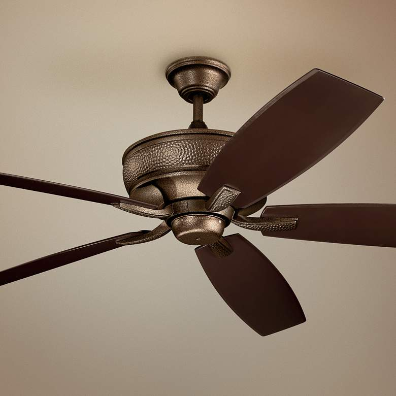 "70"" Kichler Monarch Patio Weathered Copper Ceiling Fan"