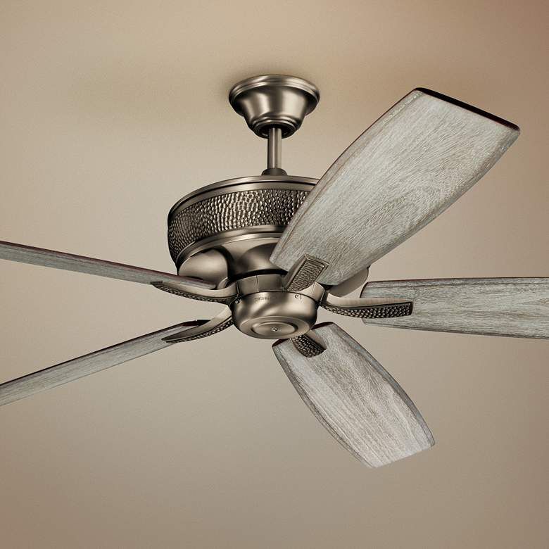 "70"" Kichler Monarch Burnished Antique Pewter Ceiling Fan"