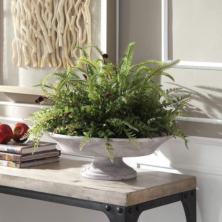 "Mabry Green Fern 27""W Faux Plants in Oversized"