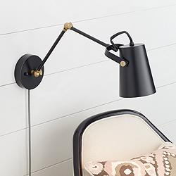 Bowers Bronze & Antique Brass Plug-In Wall Light