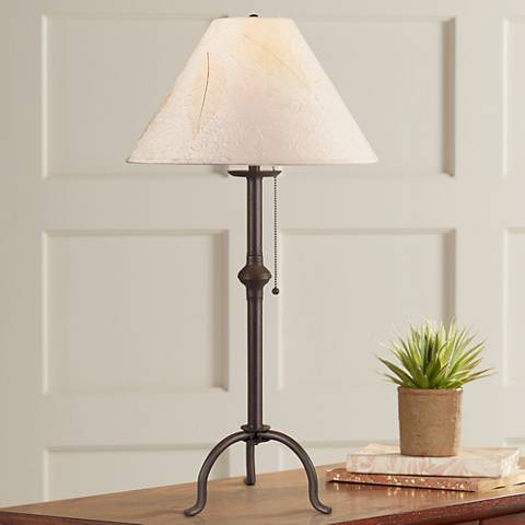 Craftsman Collection Pennyfoot Wrought Iron Table Lamp
