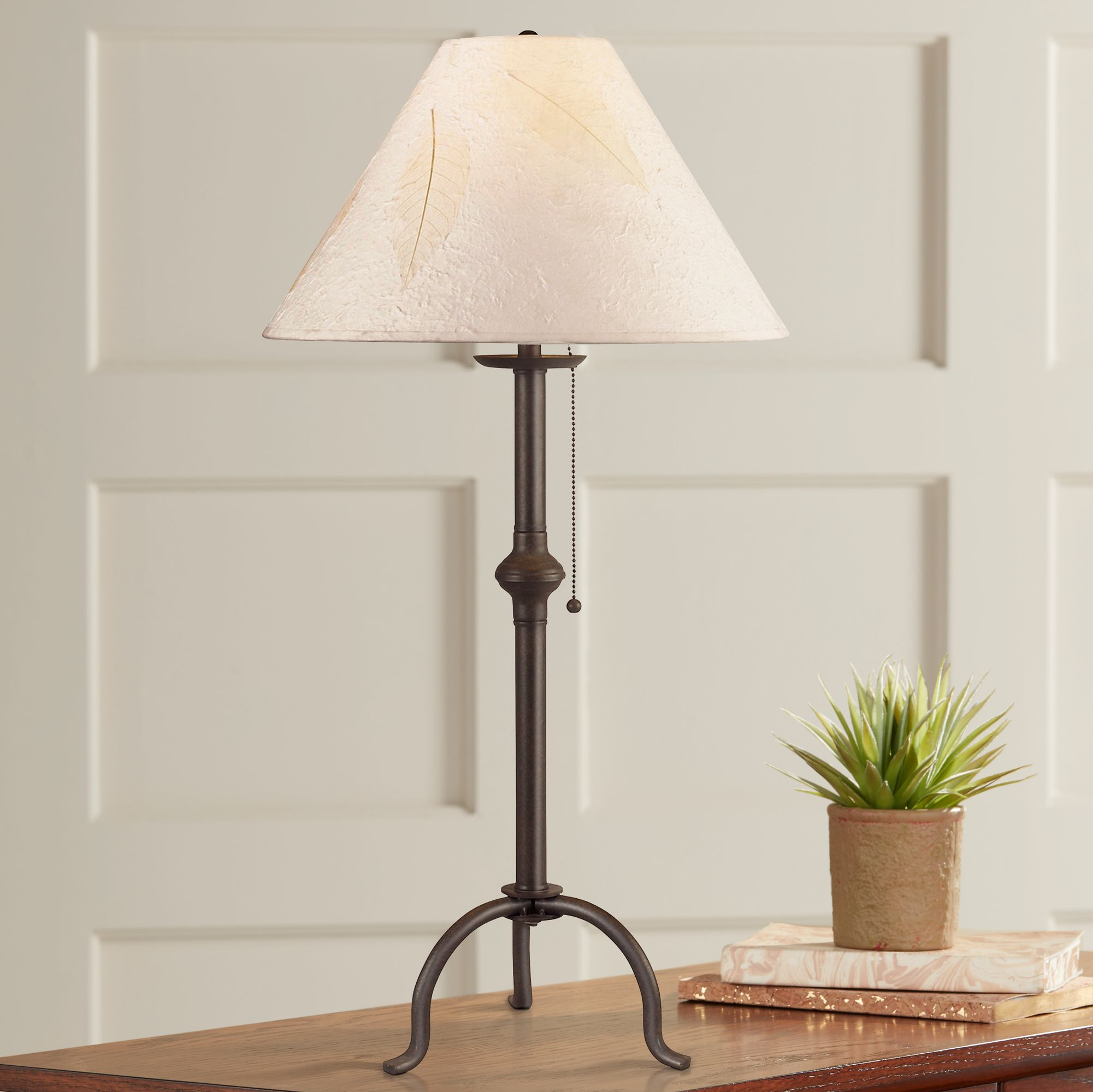 Nice Craftsman Collection Pennyfoot Wrought Iron Table Lamp