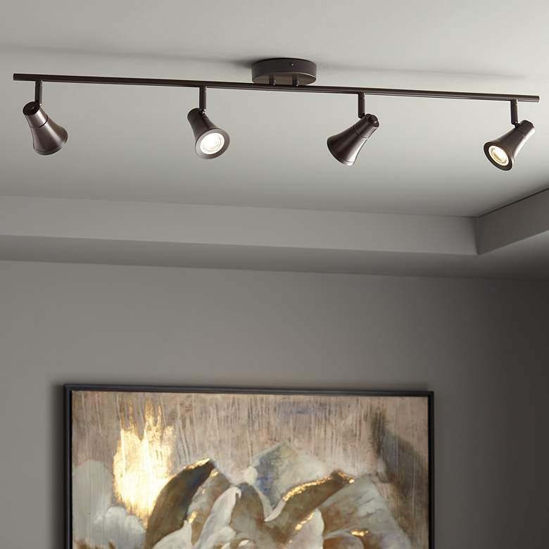 Pro Track Castro 4-Light Bronze LED Track Fixture