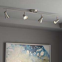 Pro Track Castro 4-Light Brushed Nickel LED Track Fixture