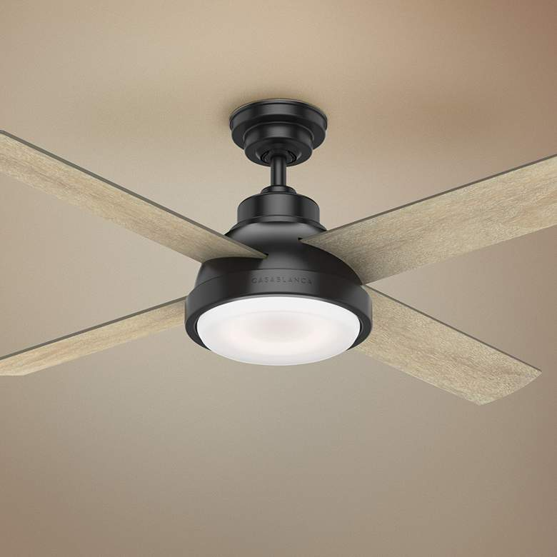 "54"" Casablanca Levitt Matte Black LED Ceiling Fan"