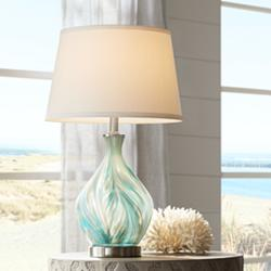 Cirrus Art Glass Vase Accent Table Lamp