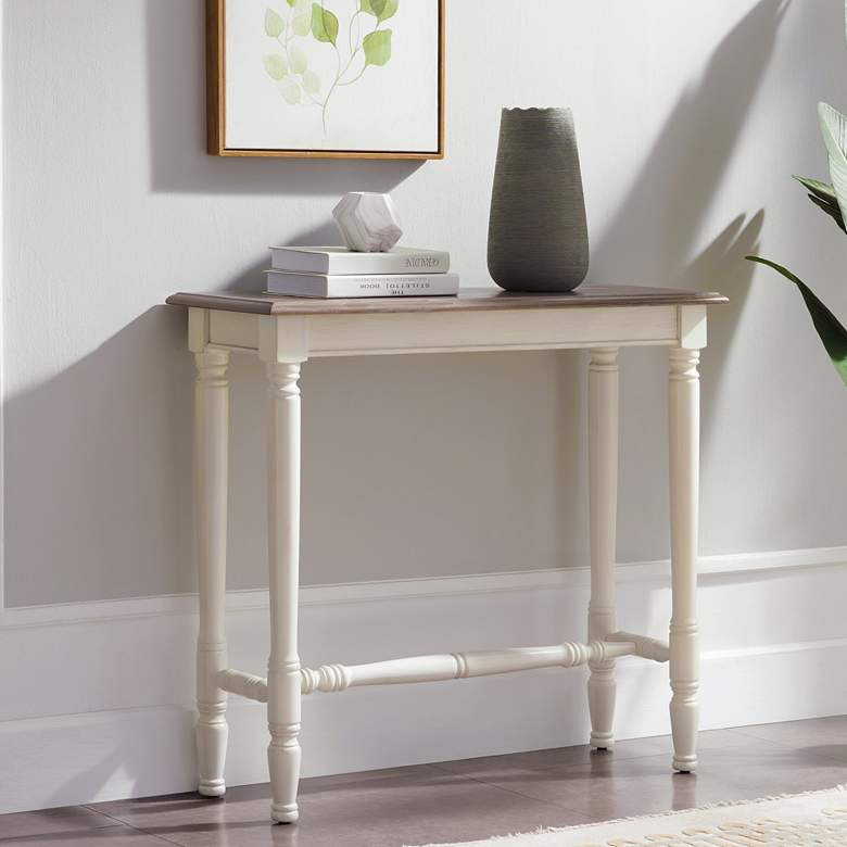 "Leick Toscana 32"" Wide Ecru and Otter Hall Console Table"