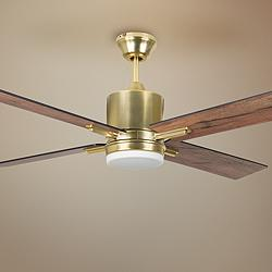 "52"" Craftmade Teana Satin Brass LED Ceiling Fan"