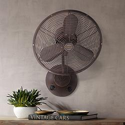 "16"" Craftmade Bellows I Aged Bronze Textured Damp Wall Fan"