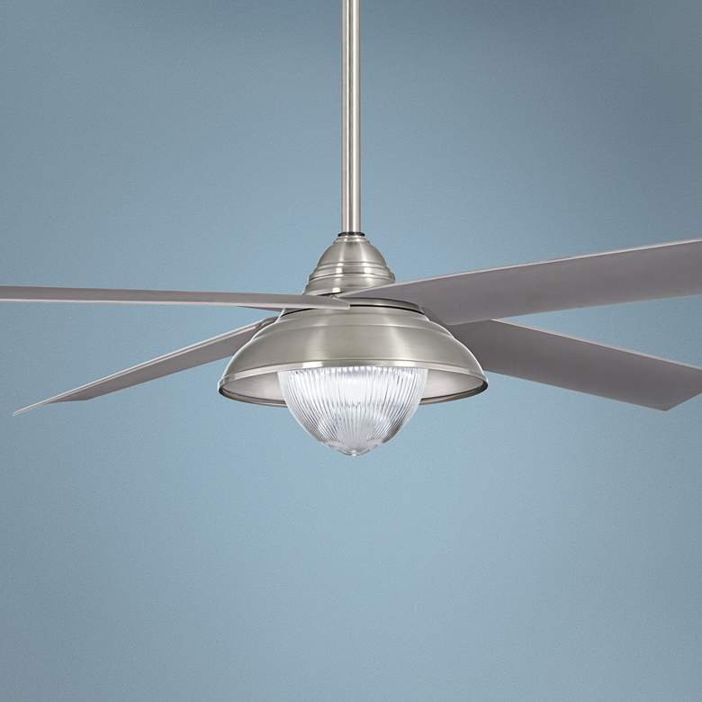 "56"" Minka Aire Shade Brushed Nickel LED Outdoor"