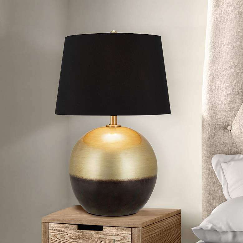 Maisie Burnished Brass Sphere LED Table Lamp