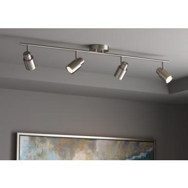 Pro Track Melson 4-Light Brushed Nickel LED Track Fixture