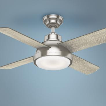 "44"" Casablanca Levitt Brushed Nickel LED Ceiling Fan"