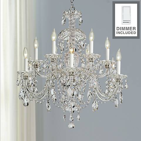 "Sterling 29""W Heritage Crystal Chandelier with Dimmer"