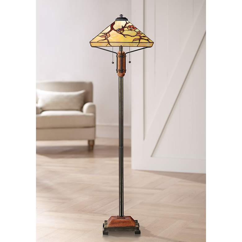 Grove Park Tiffany-Style Floor Lamp by Quoizel