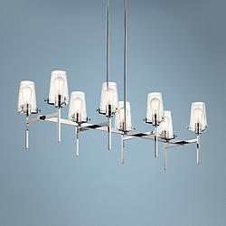 "Alton 46""W Polished Nickel Kitchen Island Light Chandelier"