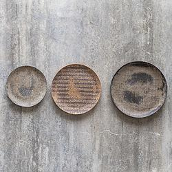 Uttermost Gaia Natural Stone Plates Wall Art - Set of 3