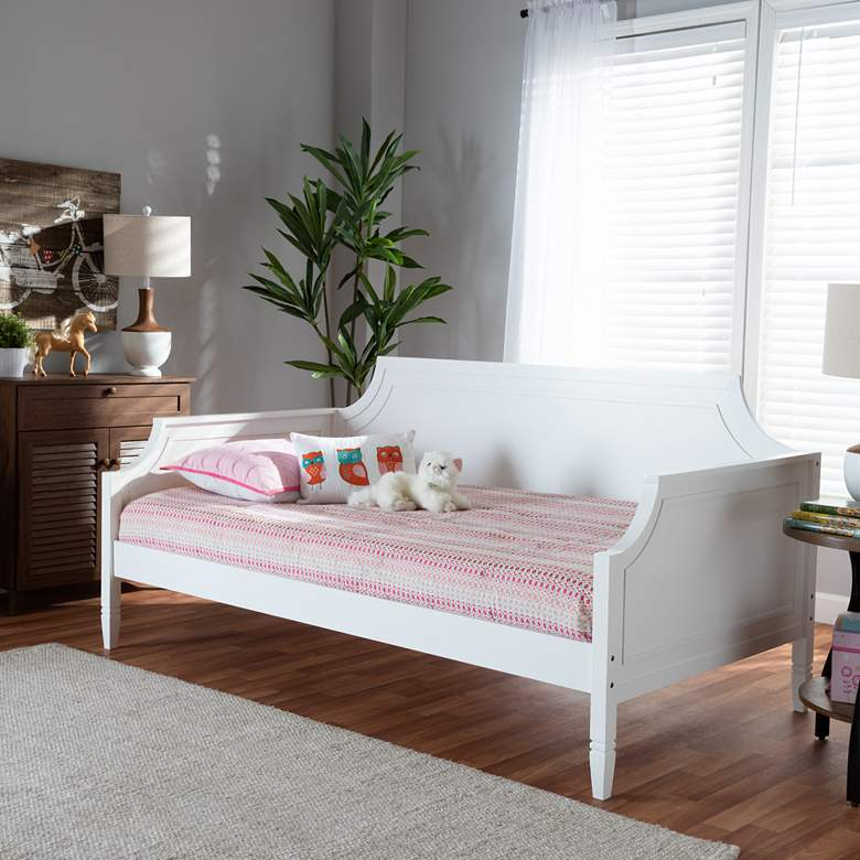 Baxton Studio Mariana White Wood Twin Daybed