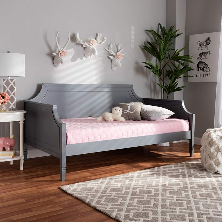 Baxton Studio Mariana Gray Wood Twin Daybed
